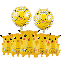 cartoon character foil pikachu shaped pokemon classic toys balloons
