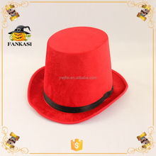 Promotional Red Felt Top Hat with Band for Party