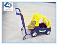 New style baby shopping trolley cart with plastic car toy