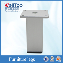 Modern brushed aluminum table legs VT-03.032