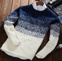 S11474A 2015 new korean style thick man' pullover sweaters