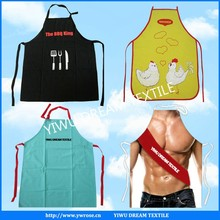 custom high quality black adjuster cotton kitchen apron
