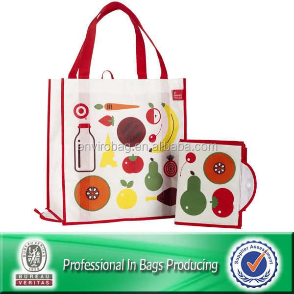 Lead Free Non Woven Custom Foldable Target Shopping Bags