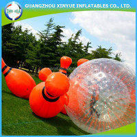 Hot sale cheap giant inflatable human bowling ball for outdoor sports