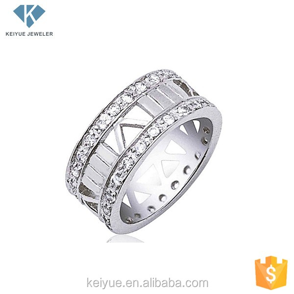 South Korea triangular hollow men ring made in silver 925 jewelry