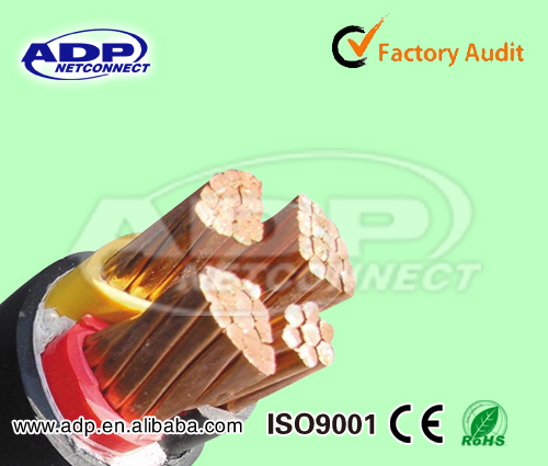 copper conductor lead XLPE sheathed cable YJV Cable
