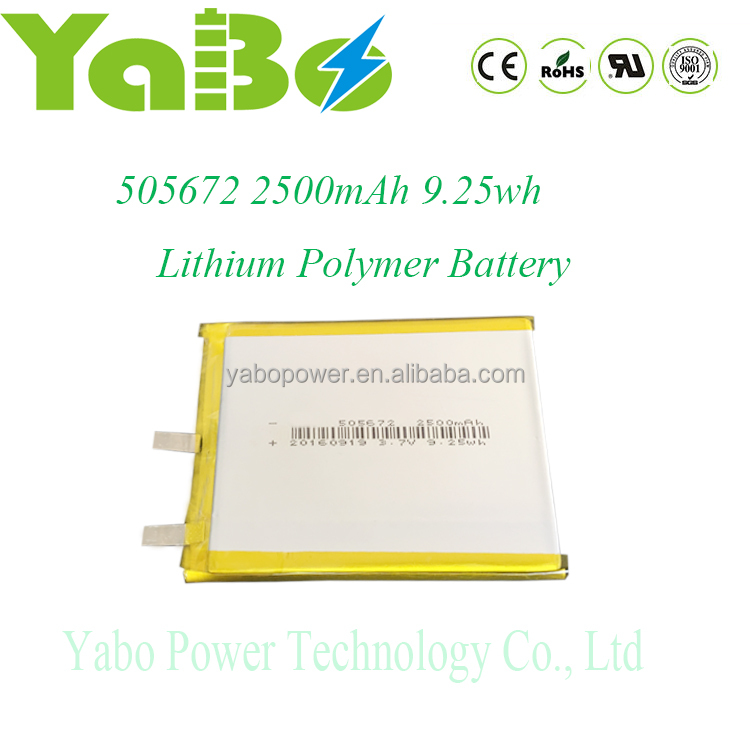 3.7v lipo battery 2500mah lithium polymer battery for power bank laptop pc rc model electric toys