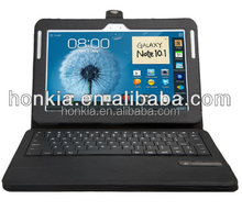 Detechable Wireless Keyboard with Leather Case for Galaxy 10.1inch N8000,N8010
