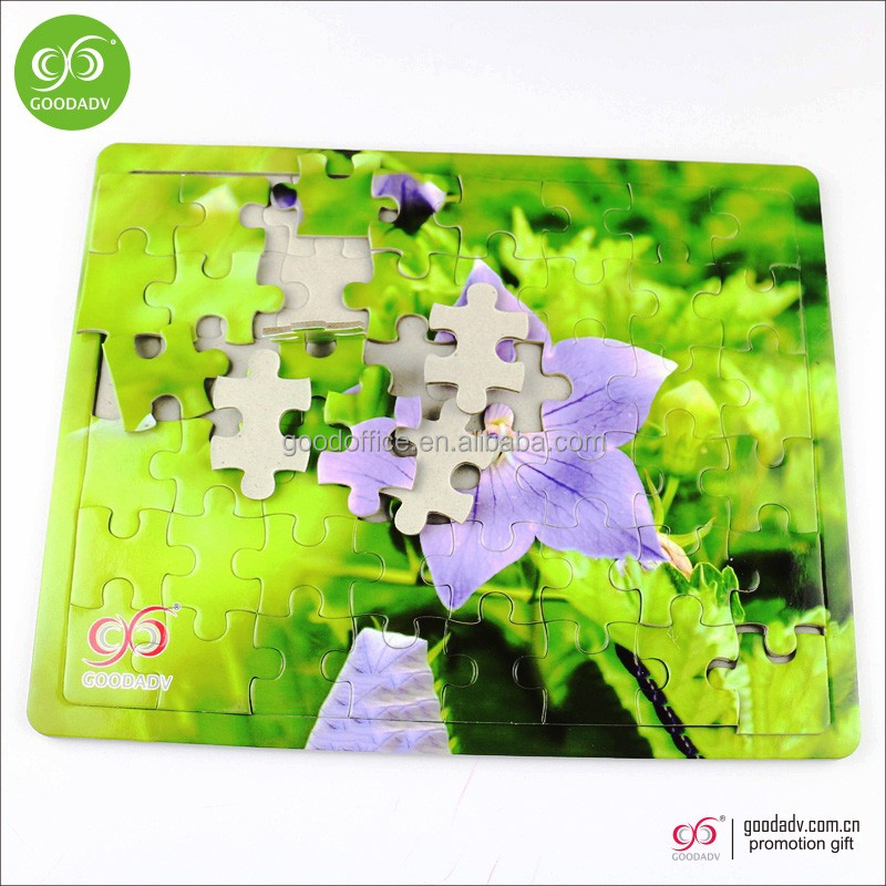 Wholesale custom educational children toys 3D cardboard paper jigsaw puzzle