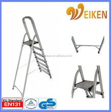 WK-AL207 domestic foldable step aluminum ladder foldaway step ladder