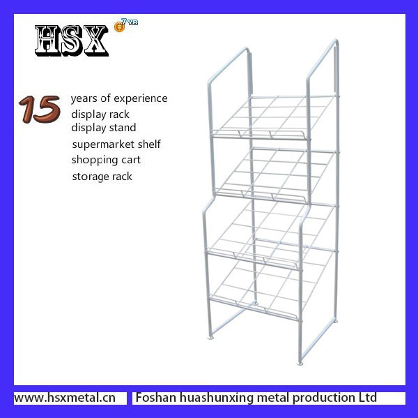 custom display rack portable wire cabinet bread baskets HSX-Z-567