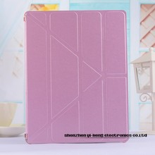 100pc/lot Fashion 4 Shapes Leather Stand Cover Case for iPad 6/Air 2 Case Smart Cover Ultra Slim Silk Case for ipad 2 3 4