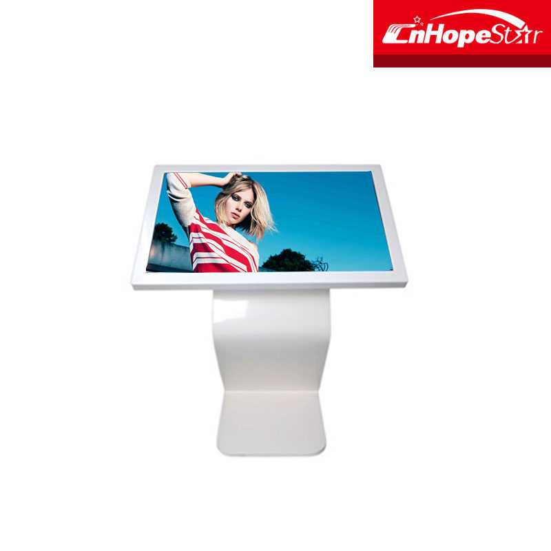 Shop mall promotion 42 inch vertical floor stand infrared touch screen lcd monitor