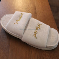 high quality disposable hotel slippers from China factory