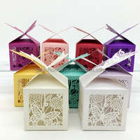 Chinese Paper cut Cheap Novelty Pink Butterfly Candy Box Wedding