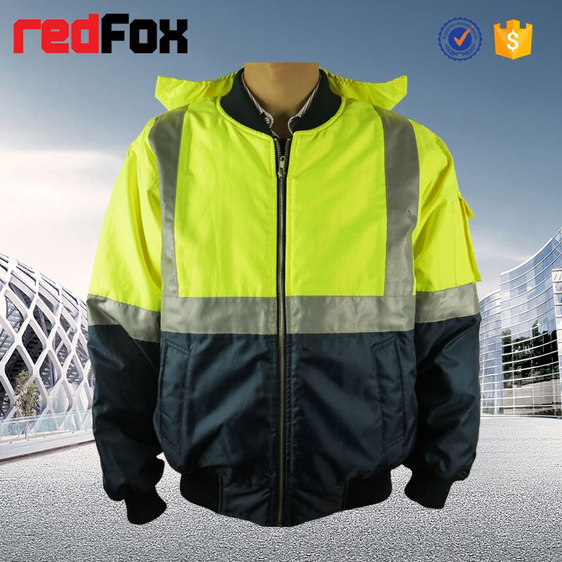 high visibility reflective safety pu coated rain jacket for man and women