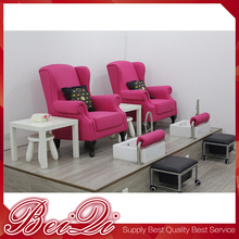 New Design Salon Furniture Sets Luxury Whirlpool Spa Pink Color Pedicure Chair Manufacturer