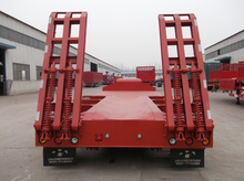 Cheap price 4 axle 100 ton 120 tons low bed semi trailer for sale