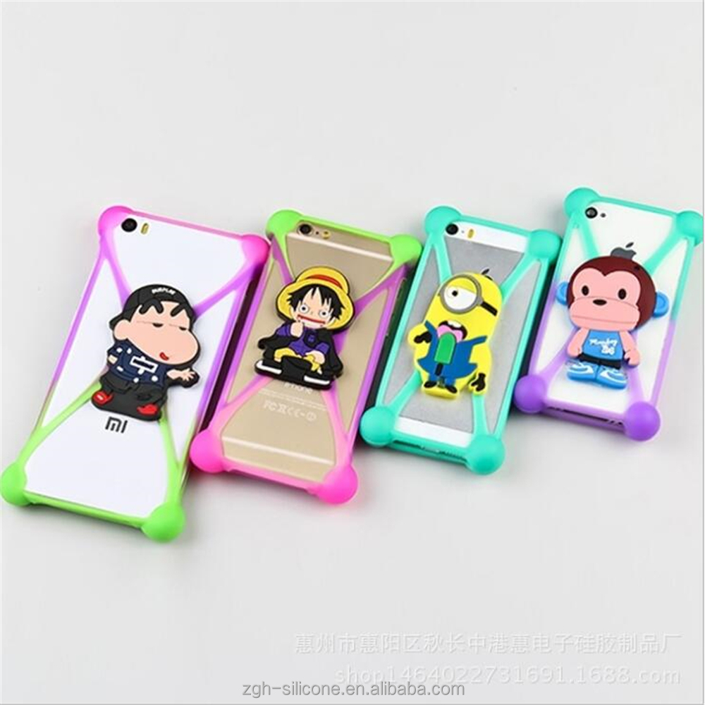 2017 new fangled cheap gift suitable any brand silicone adjustable mobile phone case