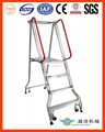 Portable Aluminum Folding Platform Ladder With Handrail