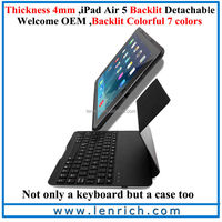 LBK206 Air Kee F6S Detachable Sliding Case Backlit Wireless Bluetooth Keyboard for ipad air 5
