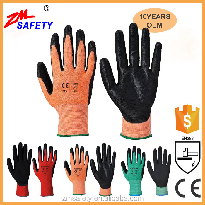 Foam Nitrile Coated Knife Cut Resistant Safety Gloves for construction