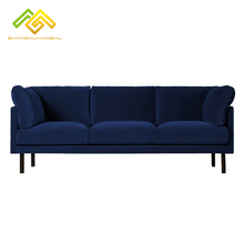 China home <strong>furniture</strong> modern 3 seater wooden sofa velvet couch