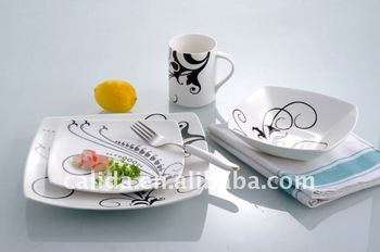 Chaozhou porcelain dinner plate 5pcs set dinnerware