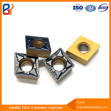 Bi-color coating tungsten carbide insert cemented for CNC lathe