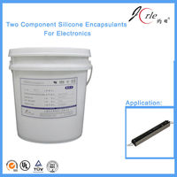 adhesive for silicone rubber for led