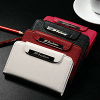 Wholesale mobile phone casing fashion genuine leather wallet smart cover case for iphone 4