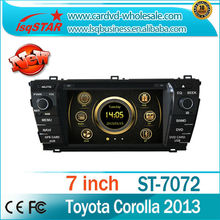 Car Multimedia for Toyota Corolla 2014 With 6CDC 3G BT IPOD foryou dvd loader OEM Service!