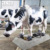 Outdoor playground high quality life size cow statue