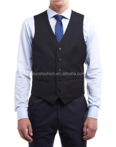 Men's vest made custom tailored black vest high quality manufactory in China