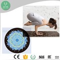 2017 new natural rubber non-toxic eco friendly round yoga mat