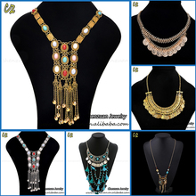 China factory price handmade statement necklace jewelry heavy indian bridal choker necklace