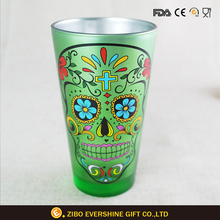 Unbreakable Cheap Drinking Skull Printing Pint Glass
