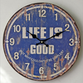 Vintage Wood Crafts Wall Clock for Home Decoration