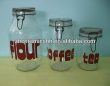 glass canister set of 3 for home usage