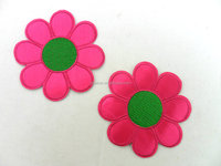 colorful beautiful charming flower emblems