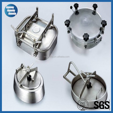 Round Elliptical Square Type Sanitary Tank Manhole Stainless Steel Manway