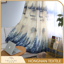 Hot sale wholesale polyester fabric classical blackout printed curtain