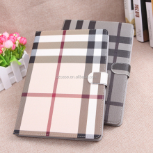2017 new style design grid flip leather cover pu pc stand pad case for ipad mini4