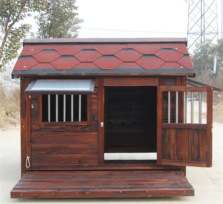 Large Solid Wood Outdoor Dog House and for Pet Size XXL