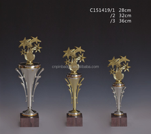 2016 Figure skating plastic awards &plastic gold star sports trophy cup wholesale
