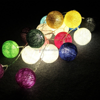 35 LED bulbs Bee garden cotton ball string lights for Patio,Wedding,Party and Decoration