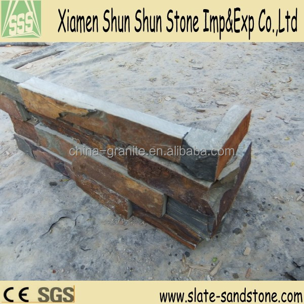 Cheap price exterior wall random slate corner floor tile for sale