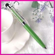 certified and environmental promotional crystal pen with free logo for promotion ball point type