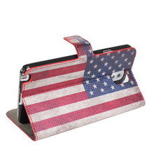 UK & USA flip leather flag case for samsung note 3
