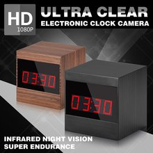 Hidden Camera Alarm Clock Motion Activated Security Pinhole Nanny Camera 1080P HD Loop Video Recorder Spy Clock Home Cam PQ280